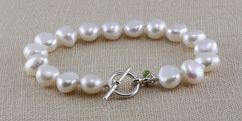 LARGE NUGGET PEARL TOGGLE BRACELET