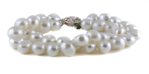 LARGE NUGGET DOUBLE STRAND PEARL BRACELET