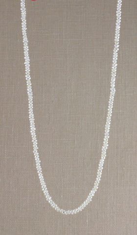 TINY BUTTON PEARL NECKLACE-16