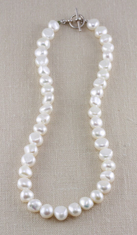 LARGE NUGGET PEARL TOGGLE NECKLACE