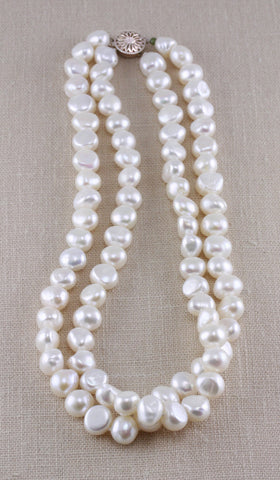 LARGE NUGGET DOUBLE STRAND NECKLACE