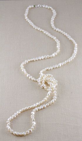 SMALL NUGGET PEARL NECKLACE- 48