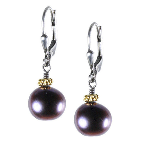 LARGE NUGGET PEARL DANGLE EARRING
