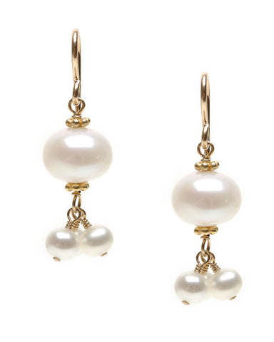 LANTERN PEARL EARRING WITH DANGLES