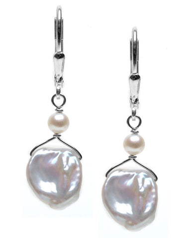 KESHI PEARL DANGLE EARRING