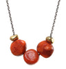 CORAL TRIO NECKLACE