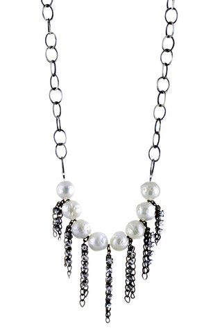 Baroque Pearl with Fringe Necklace