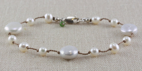 COIN PEARL FLOATING BRACELET