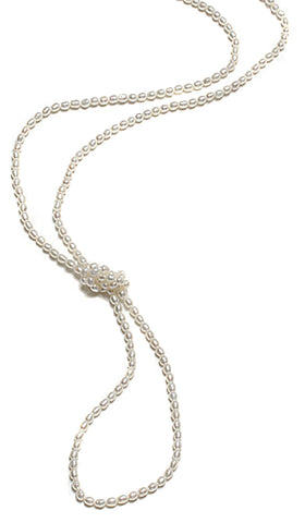 SMALL RICE PEARL ROPE NECKLACE-48