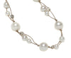 DOUBLE THREAD WHITE PEARLS NECKLACE-16