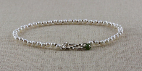 TINY POTATO PEARL BRACELET WITH S-CLASP