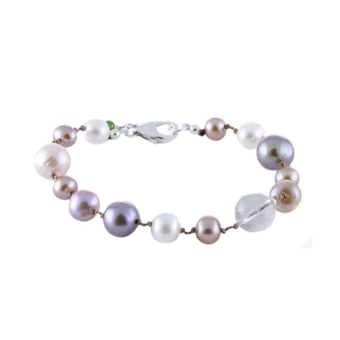 CHAMPAGNE COCKTAIL PEARL BRACELET