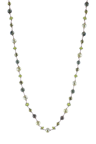 MINI MULTI GREEN PEARL NECKLACE