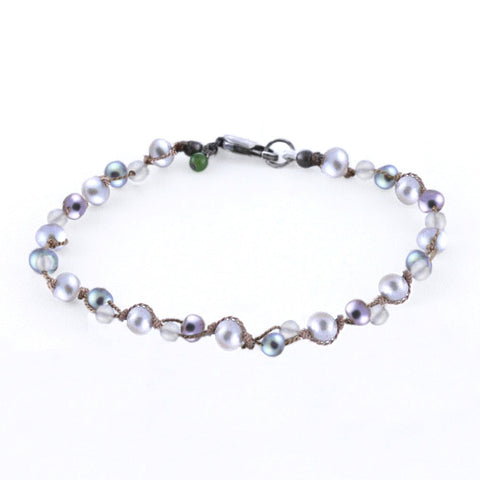MINI MULTI GREY PEARLS BRACELET