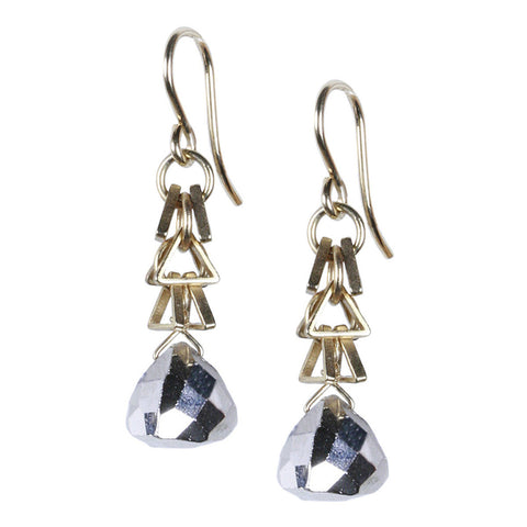 PYRAMID DANGLE EARRING