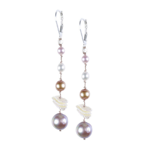 CHAMPAGNE COCKTAIL PEARL EARRING