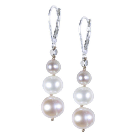 SOFT PINK PEARL SILK EARRING
