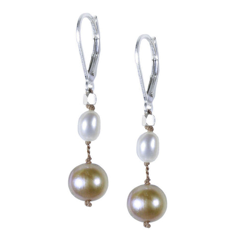Parchment Pearl Silk Earring
