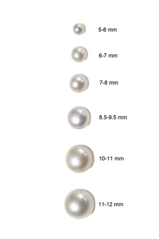 6-7 MM BUTTON PEARL STUD EARRING