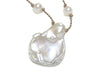KESHI PETAL PEARL DROP FLOATING NECKLACE-16