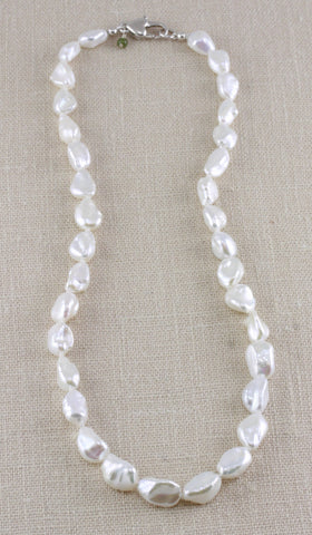 OBLONG KESHI PEARL NECKLACE- 16