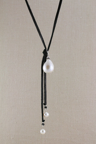Baroque Pearl on Deerskin
