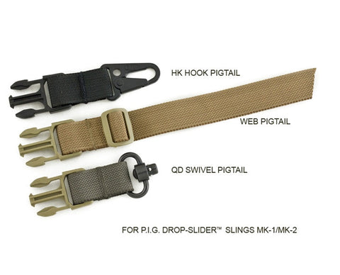 "PIG 1"" Web Pigtail for Drop-Slider_ Sling"