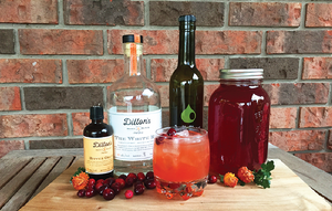 Cranberry Apple Shrub Cocktail