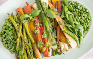 Pinot Noir & Basil Spring Vegetables