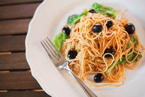 Cherry Tomato and Basil Spaghetti
