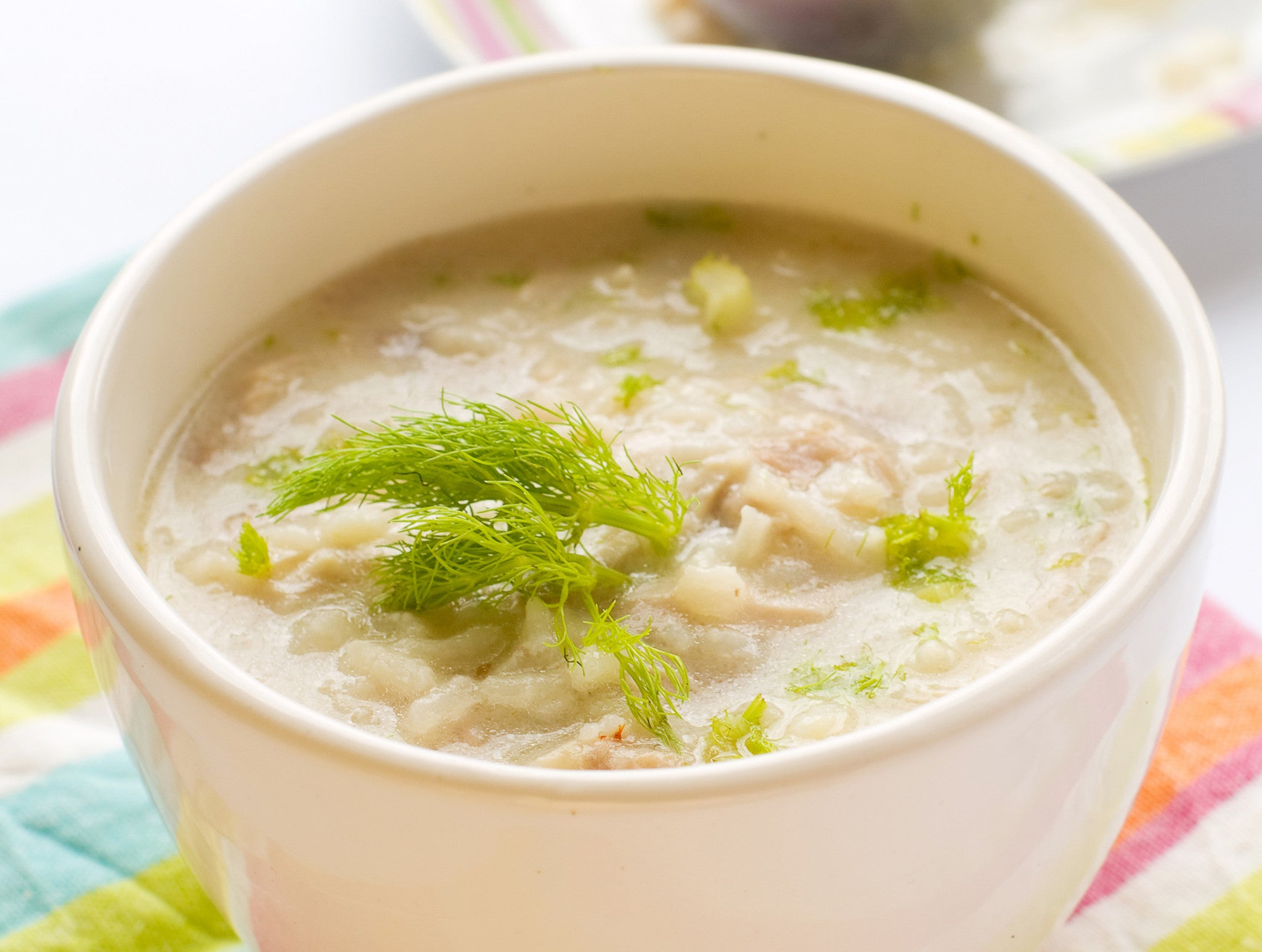 Greek Lemon Chicken Rice Soup