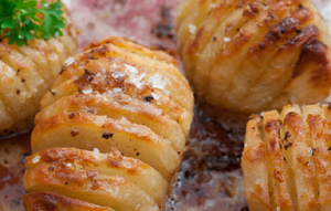 Roasted Garlic Hasselback Potatoes