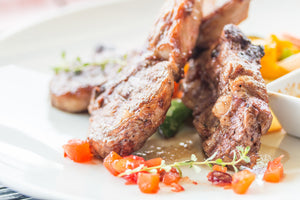 Herbed Lamb Cutlets with Grilled Vegetables