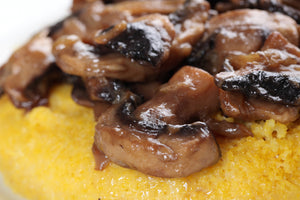 Mushroom Ragout with Pecorino Polenta and Truffled Mascarpone