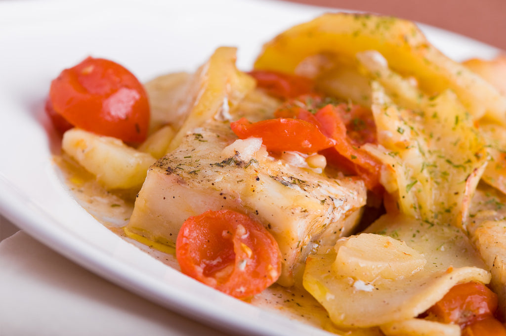 Pan-Roasted Halibut with Potatoes