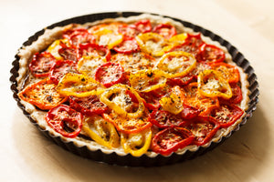 Roasted Tomato Quiche with Olive Oil Crust