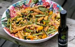 Israeli Pearl Couscous Salad with Grilled Veggies