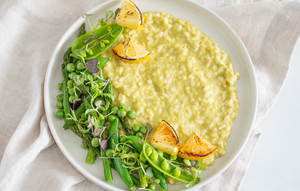 Pesto Pea & Grilled Lemon Risotto