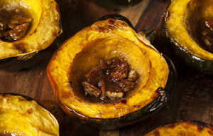 Acorn Squash With Maple & Pecans