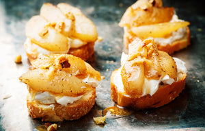 Caramelized Pear Bruschetta