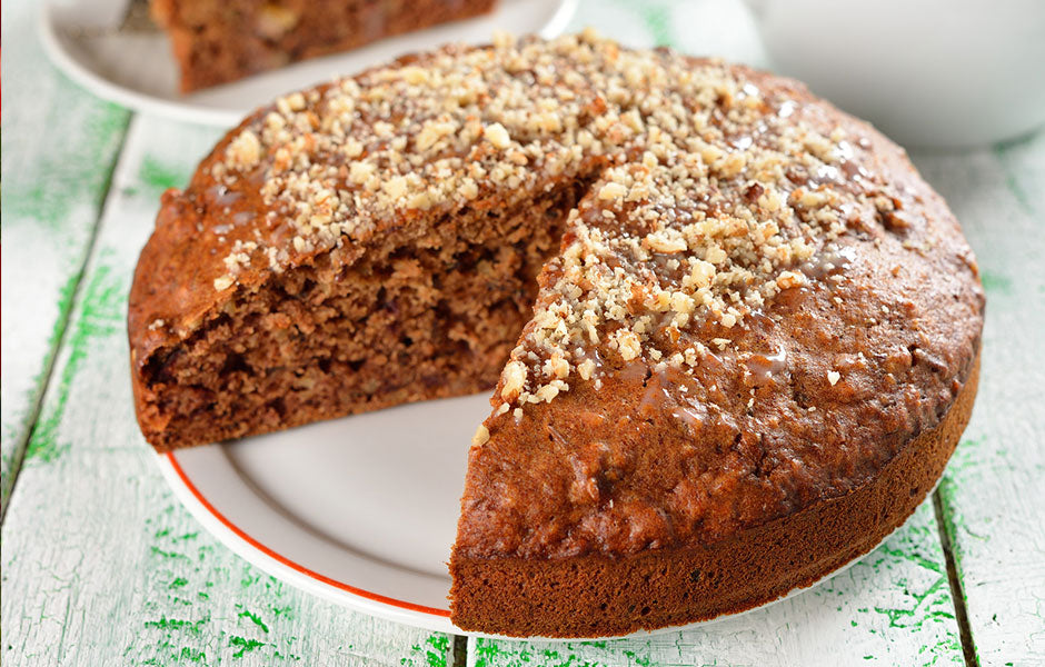 Greek Walnut Brandy Cake