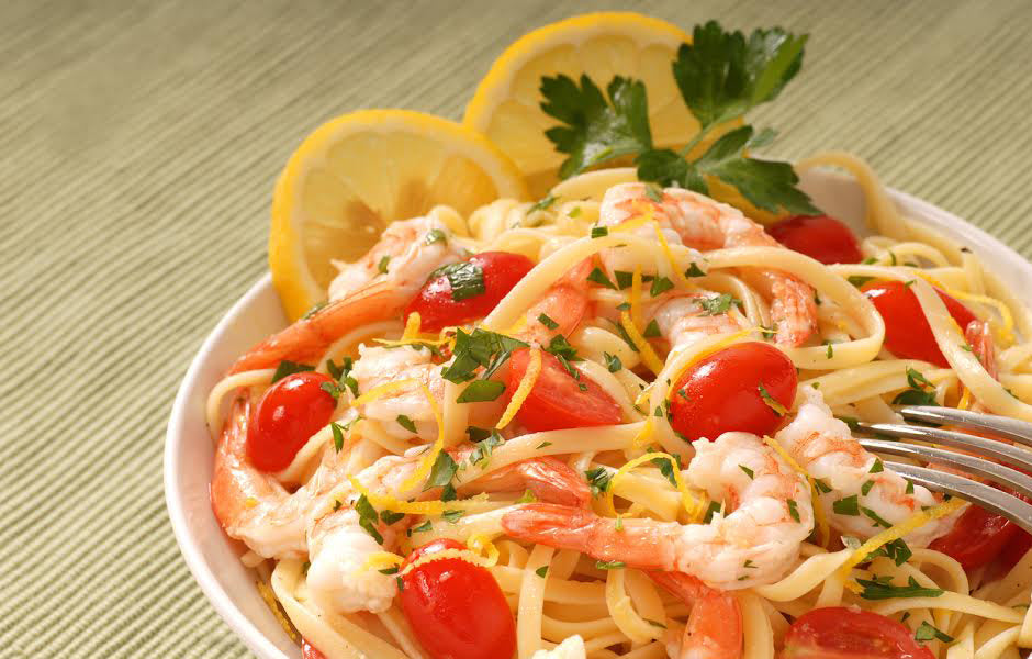 Lemon & Shrimp Spaghetti