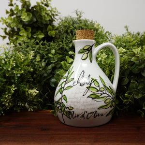 Ceramic Olive Oil Bottle with Cork