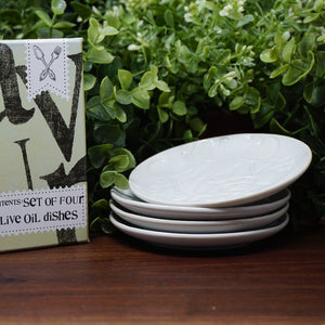 Olive Oil Dipping Plates - Set of 4