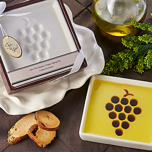Della Terra Oil and Vinegar Dipping Dish - Grapes