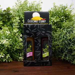 Della Terra Coconut Curry Oil and Balsamic Tasting Pack