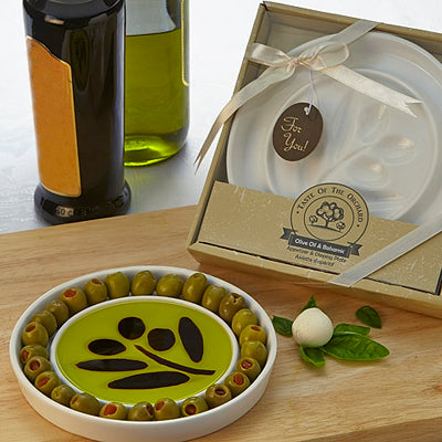 Della Terra Orchard Olive Oil and Balsamic Dipping Dish