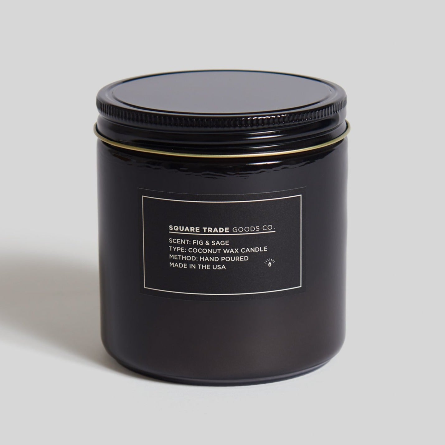 Square Trade Goods 16 oz Candle - Fig & Sage