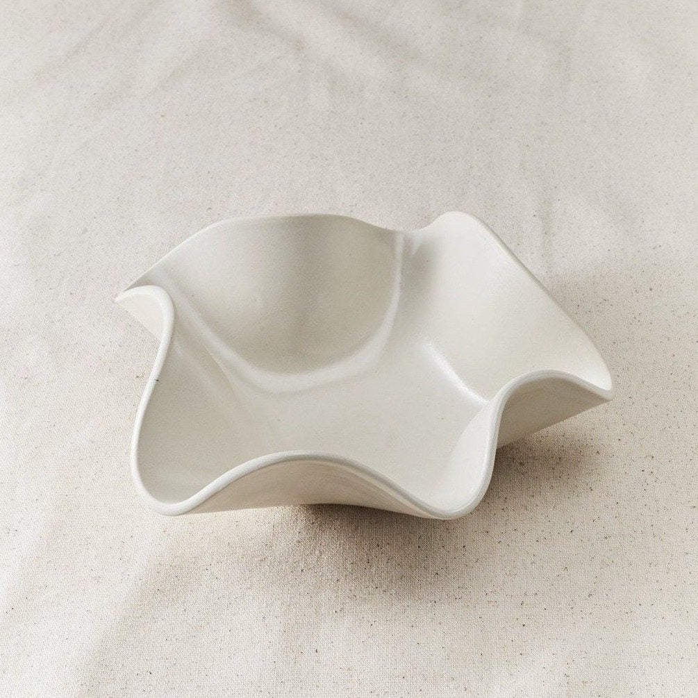 Folded Ceramic Catchall Bowl - Medium