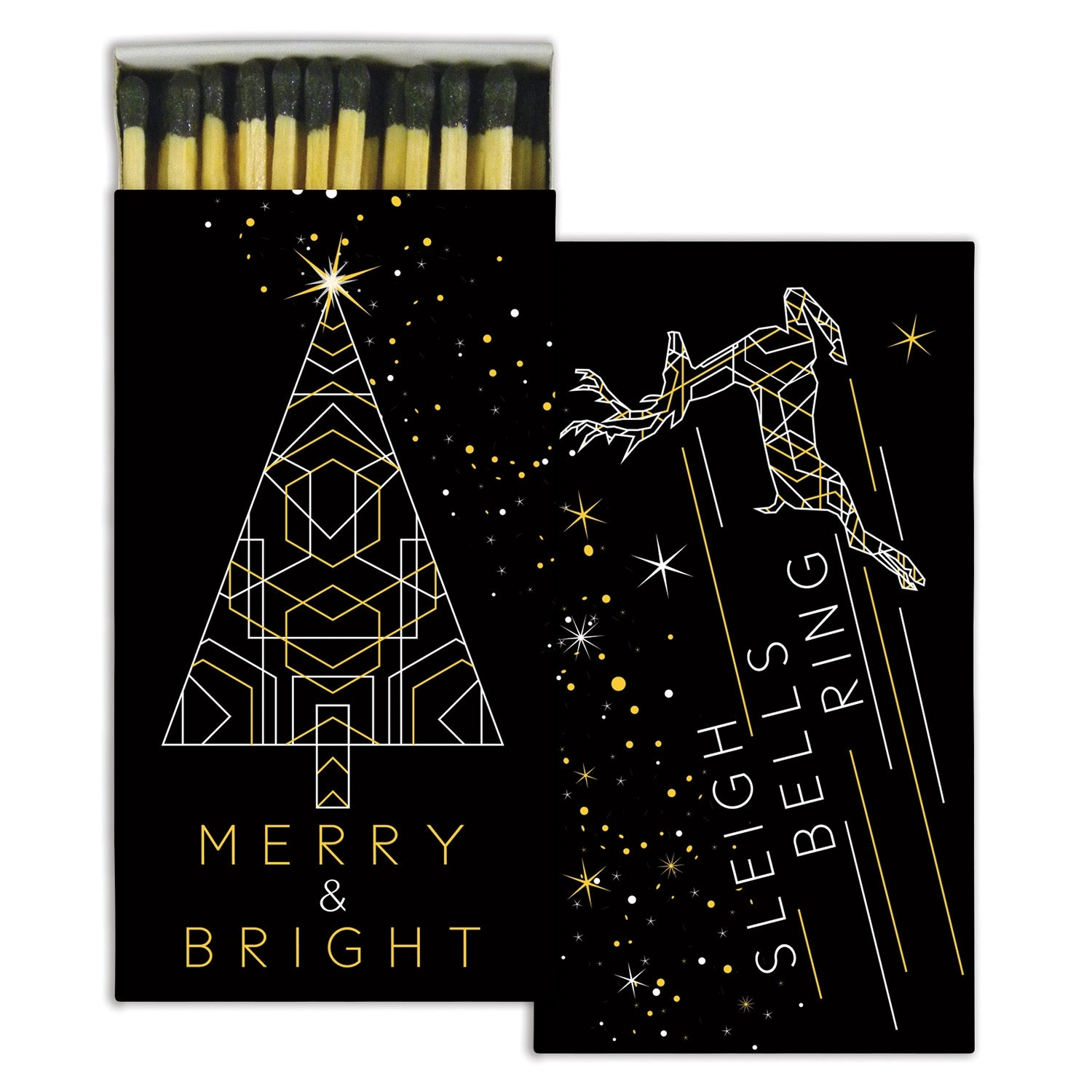 Matches - Merry and Bright - Gold Foil